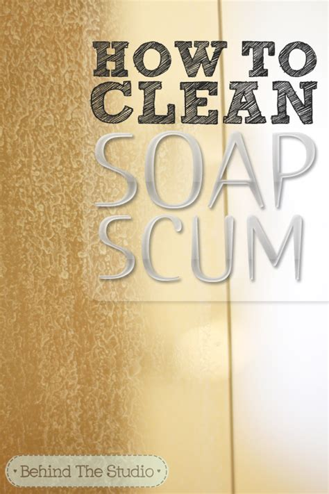 How To Clean Soap Scum From Glass Shower Doors How To Clean Soap Scum Glass Doors With A Diy Cleaner The Studio