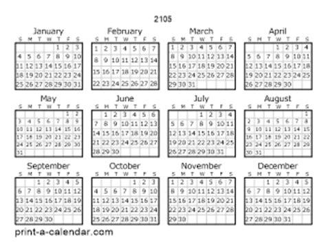 2104 calendar template 2105 printable calendars