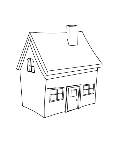 House Color Page Coloring Home Home Coloring Page