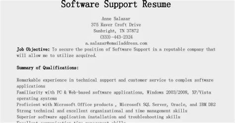 Software Support Specialist Sle Resume by Software Support Resume 28 Images 10000 Cv And Resume Sles With Free Free Resume Sles