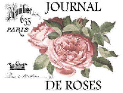 vintage image french paris pink rose furniture transfers