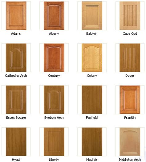types of wood kitchen cabinets cabinet door types home design