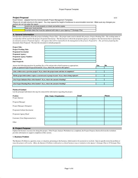 Template For Project 8 simple project template procedure template