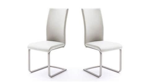 schwingstuhl weiß stuhl 4er set paulo 1 esszimmerstuhl wei 223 und edelstahl