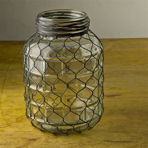 Wire Vase by Chicken Wire Vase Dwell