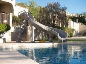 How To Build A Water Slide In Your Backyard Swimming Pool Slides Royal Swimming Pools