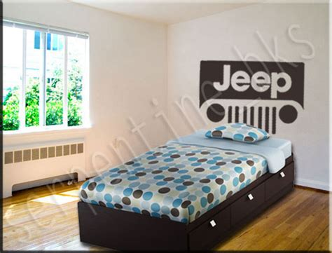 Jeep Bedroom Decor by Jeep Headboard Wall Vinyl Decal Sticker D 233 Cor Ebay