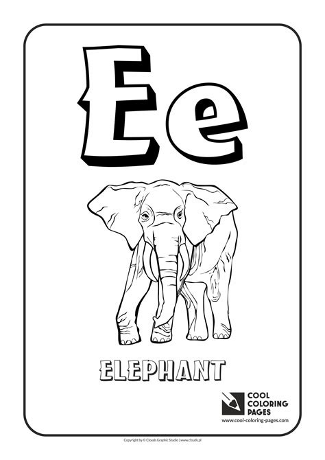 coloring pages with letter e cool coloring pages letter e coloring alphabet cool