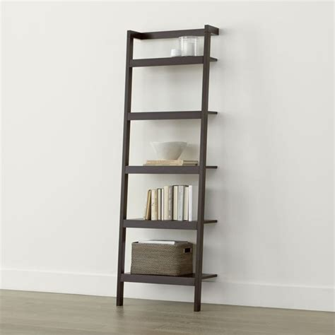 Shelves Bookcase Sawyer Mocha Leaning 24 5 Quot Bookcase Modular Design