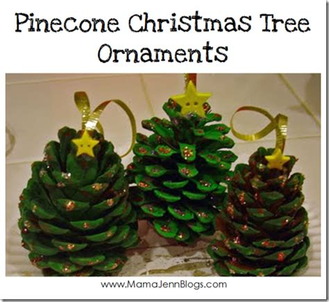 pinecone christmas tree ornaments