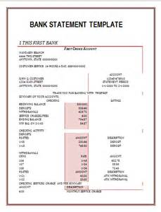 free bank statements templates bank statements free word s templates