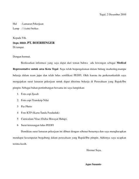 contoh surat lamaran kerja format format surat lamaran kerja dan cv ben jobs