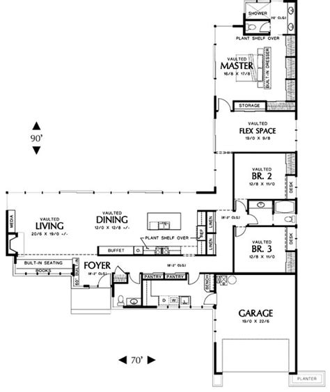 l shaped floor plans l shaped house plans with 3 car garage dont need a three