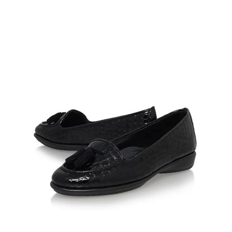 Como Shoes by Lyst Carvela Kurt Geiger Como Flat Slip On Loafers In Black