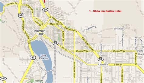 map of oregon klamath falls klamath falls area lodging map