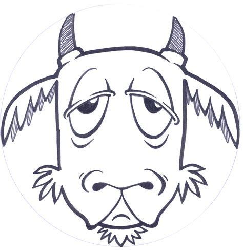 printable mask goat free coloring pages of goat face mask