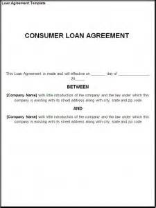 loan agreement template free formats excel word