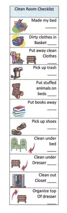 cleaning bedroom checklist help your child succeed with a clean room checklist