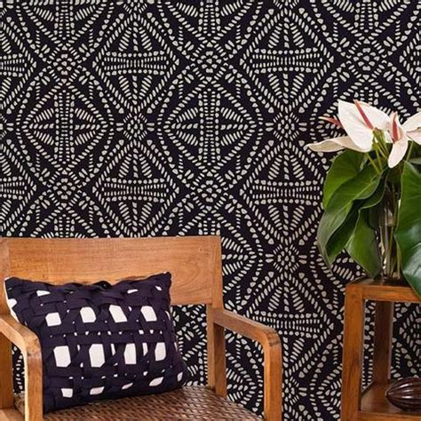 design interior batik african tribal batik allover wall stencil royal design