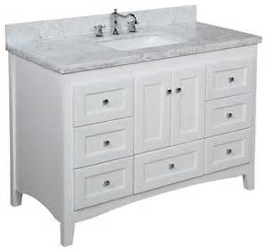 48 in bath vanity carrara white traditional