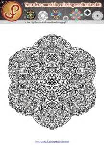 meditative mandala menagerie an advanced coloring book books another free mandala coloring page