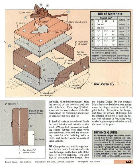 keepsake box plans woodarchivist