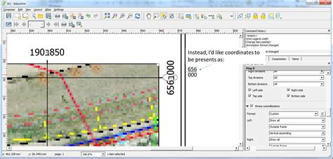 layout view in qgis print composer is it possible to make a multiple line