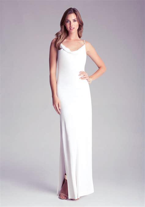 Dress Nevk bebe cowl neck dress in white lyst