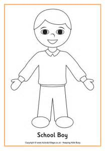 boy template boy printable coloring pages