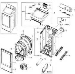 Samsung Clothes Dryer Parts Samsung Dryer Parts Model Dv52j8700epa20000 Sears Partsdirect