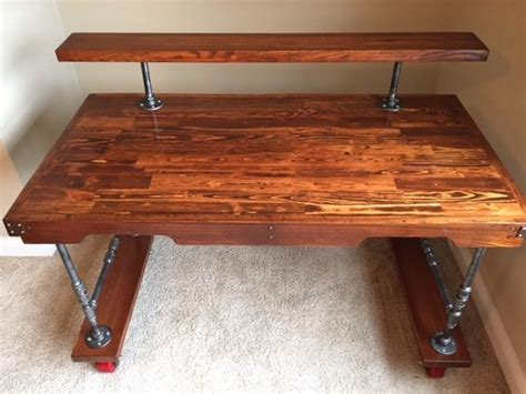Steam Punk Desk My Husband Made Out Of Pallets Desk Made Out Of Pallets