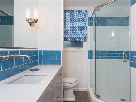 pool bathroom flooring pool inspired bathroom with blue and white tile designers portfolio hgtv home