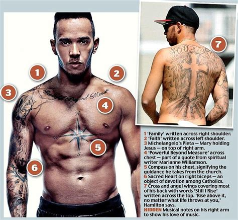 hamilton tattoo lewis hamilton opens up about his tattoos as he poses for