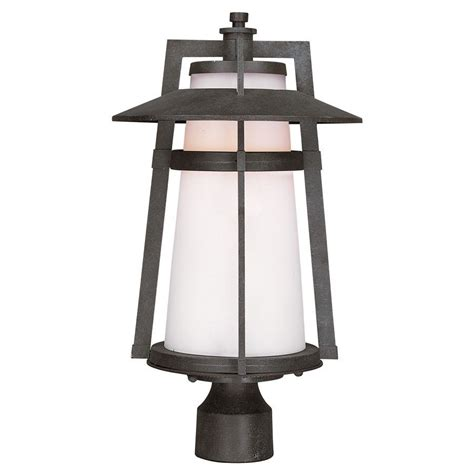 Patio Pole Lights Maxim Calistoga Led 1 Light Outdoor Pole Post Lantern In Adobe 88530swae Ebay