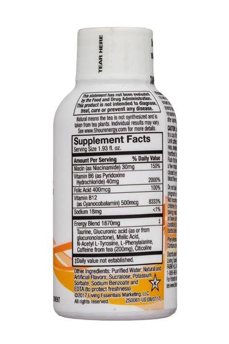 hour energy nutrition label ythoreccio