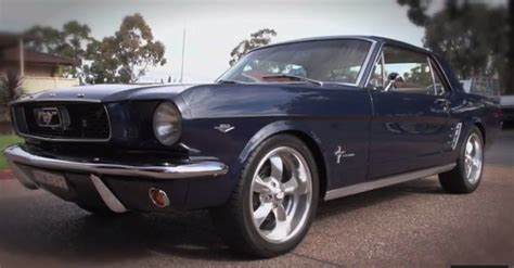 1966 ford mustang american muscle car