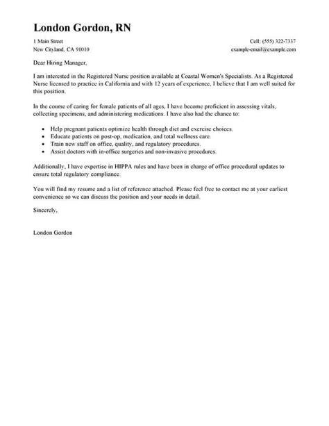example cover letters for nursing jobs granitestateartsmarket com