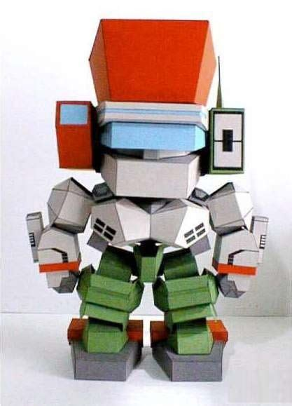 A Cute Robot Paper Model Free Template Download Http Www Papercraftsquare Com Cute Robot 3d Papercraft Templates Free