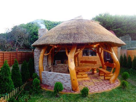 thatched gazebo summer house log cabin garden furniture