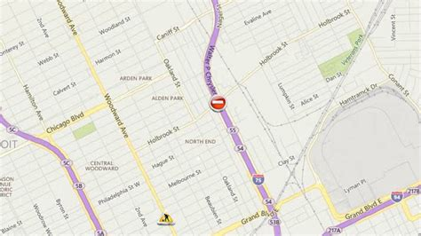 detroit traffic map i 75 reopens in both directions at clay in detroit