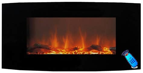 calefactor chimenea el 233 ctrica de pared pantalla curva 90cm - Calefactor Chimenea Electrica