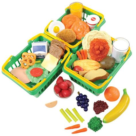 Pretend Kitchen Furniture healthy choices play food set