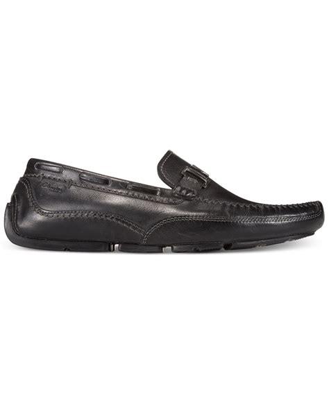 black slip on loafers mens clarks clark s s ashmont bit slip on loafers in black