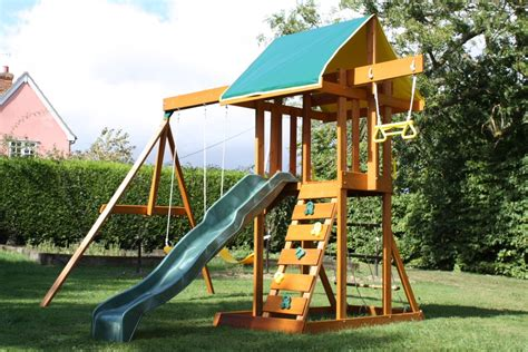 climbing frame and swing set meadowvale climbing frame children s wooden climbing frame