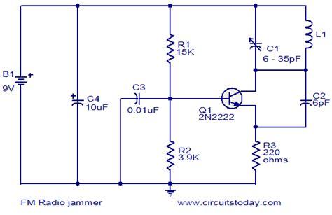 fm radio receiver circuit diagram pdf fm radio jammer electronic circuits and diagrams