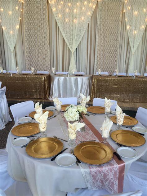 Vintage Glam Wedding Reception #lethbridgeeventrentals #