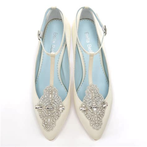 Handmade Wedding Shoes Uk - handmade wedding shoes with deco ivory or white wedding