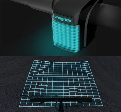 Lu Projector Led lumigrids an led projector that reveals the road surface