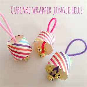 Cupcake wrapper jingle bells