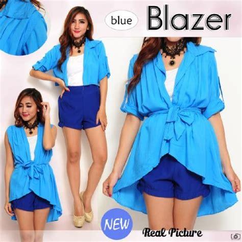 Blouse Ella Biru Sw Atasan Wanita Rayon Bangkok Biru 1 jual blazer rompi lovia sw pakaian wanita blazer warna biru di lapak catalia store